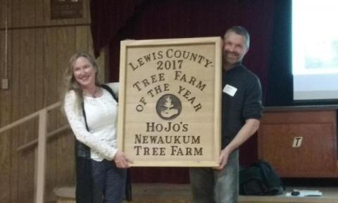 Michelle Blake Morgan was named Lewis County Tree Farmer of the Year in 2017