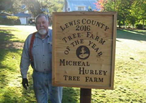Micheal Hurley was named Lewis County Tree Farmer of the Year in 2016