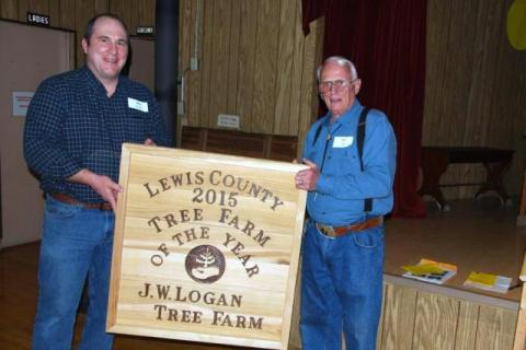 Bill Logan was named 2015 Lewis County Tree Farmer of the Year
