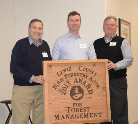 Bill and Mike Merriman received an award for Forest Management in 2018