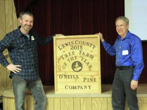 Richard Pine (R), 2018 Lewis County Tree Farmer of the Year