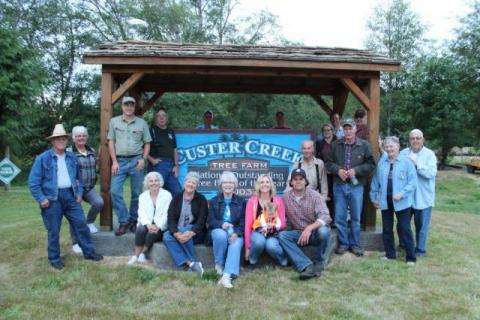 Chapter members at Falkner's Custer Creek Tree Farm, August 2017