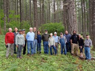 Mt. Adams chapter members at Glenn Richie Tree Farm - 2016