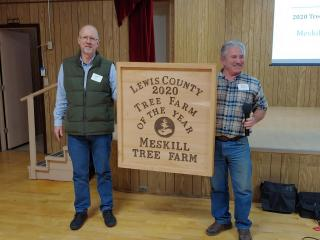 Meskill Tree Farm, represented by John Arata, was named 2020 Lewis County Tree Farmer of the Year