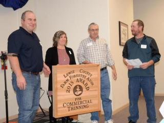 Chris and Melanie Clowe received an award for Commercial Thinning in 2018