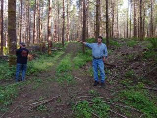 Chris Clowe talks about the thinning that was done on his stand.