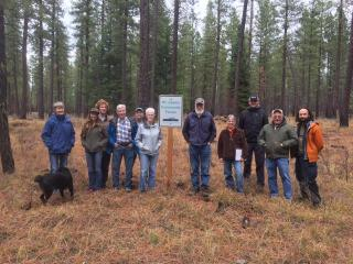 Fall 2018 meeting at Mt. Adams Community Forest