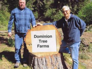 Kelly Graham and Pat Graham, Dominion Tree Farm, hosts of our 2014 Field Day