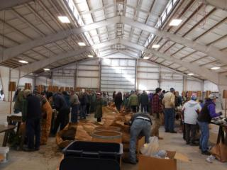 Volunteers toil away at annual Tree Sale as almost 18,000 trees are sold in two hours.
