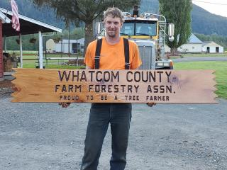 WCFFA bleacher sign purchased for hanging at the Deming Log Show.
